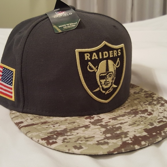 NFL Fitted Raiders Hat Salute to Service 46e1eac4a67